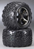 Talon Tires/Gemini Wheels Black Chrome 14mm Hex (2