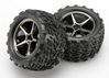 Tires And Wheels - Assembled - Glued (Gemini Black Chrome Wheels - Talon Tires - Foam Inserts) (2)