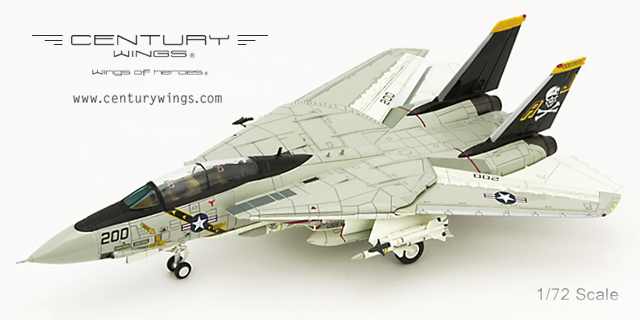F-14A Tomcat Diecast Model USN VF-84 Jolly Rogers, AJ200, USS Nimitz, 1978, Landing Configuration (1:72) - Preorder item, order now for future delivery