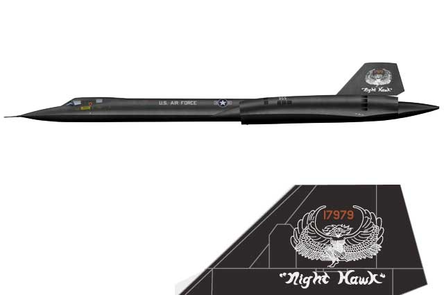SR-71A Blackbird, USAF 9th SRW, Night Hawk, 1990 (1:72) - Preorder item, order now for future delivery - CW-001623