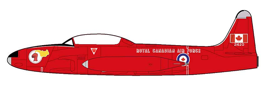 "T-33A Shooting Star, Silver Star ""Red Knight"", 1960s (1:72)"