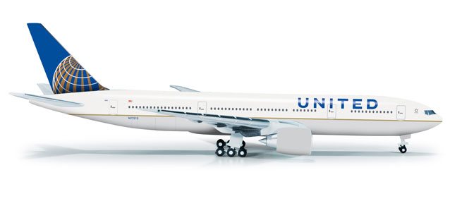 United 777-200 (1:500) Post Co Merger Livery