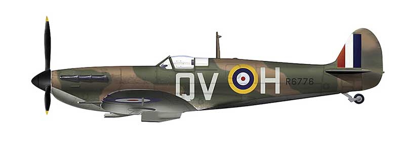 "Spitfire Mk.IA ""X4179/QV-H,"" Flight Sergeant G. Unwin, No. 19 Squadron, September 1940 (1:48)"