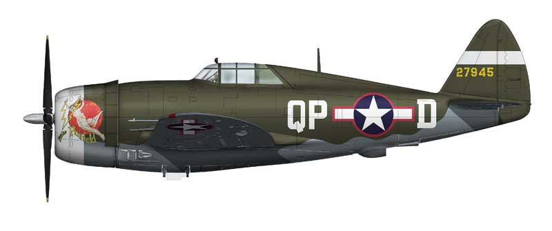 "P-47D Razorback, ""42-7945,"" Col. Steve Pisanos, 334th Fighter Squadron, 4th Fighter Group, USAAF, England 1943 (1:48) - Signature Version. NEW TOOLING!"