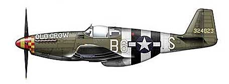 "P-51B Mustang, Capt. C.E. ""Bud"" Anderson, 363rd FS/357th Fighter Group, England, June 1944 (1:48) - Signature Version"