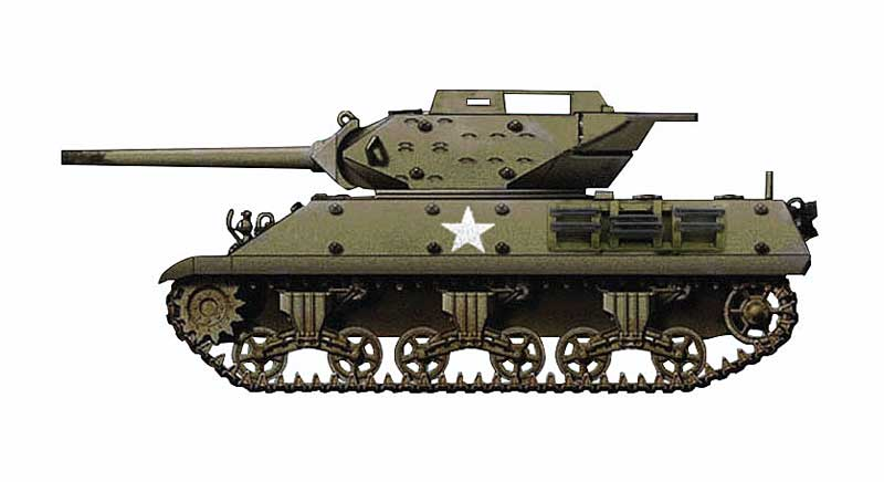 "M10 Tank Destroyer, ""Wolverine,"" 803rd Tank Destroyer Battalion, England 1944 (1:72)"