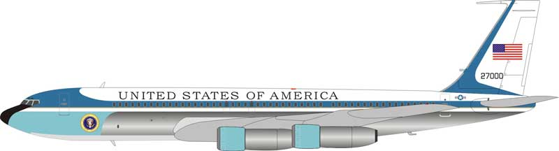 USAF Air Force One VC-137 27000, Polished (1:200) - Preorder item, order now for future delivery