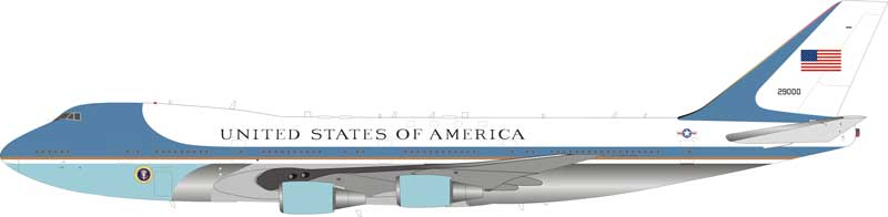 USAF Air Force One B747-200 CA-25A? 29000 Polished (1:200) - Preorder item, order now for future delivery