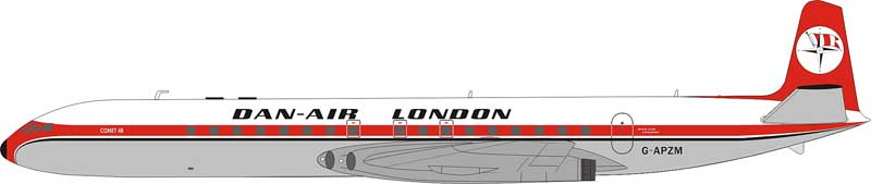 Dan-Air London DH-106 Comet 4 G-APZM (1:200) - Preorder item, order now for future delivery