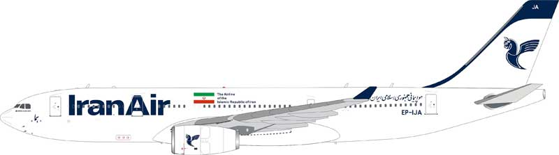 Iran Air Airbus A330-200 EP-IJA (1:200) - Preorder item, order now for future delivery