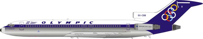 Olympic Boeing 727-200 SX-CBB Polished (1:200) - Preorder item, order now for future delivery