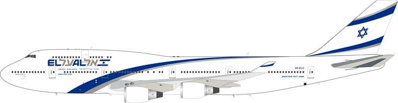 El Al Israel Airlines Boeing 747-400 4X-ELC (1:200) - Preorder item, order now for future delivery
