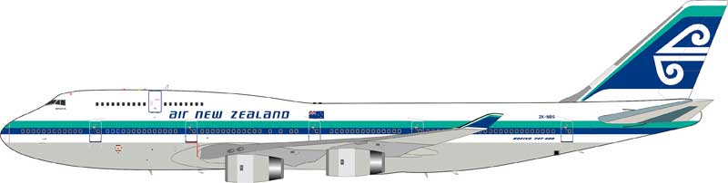 Air New Zealand 747-419 ZK-NBS With Stand (1:200)