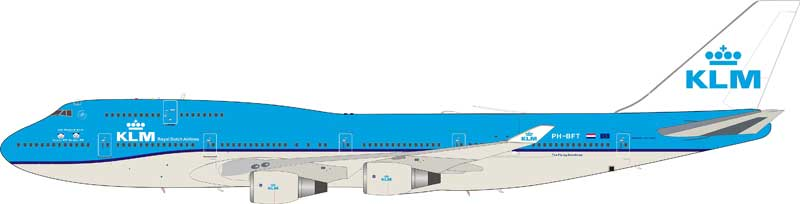 "KLM Boeing 747-400 PH-BFT ""Two Panda"" (1:200) - Preorder item, order now for future delivery"