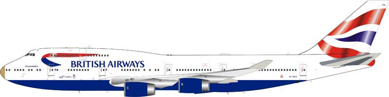 "British Airways Boeing 747-400 G-CIVA ""VictoRIOus"" With ""Gold"" Stand (1:200) - Preorder item, order now for future delivery"