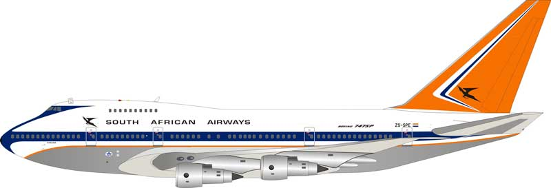 South African Airways Boeing 747SP ZS-SPE Polished (1:200) - Preorder item, order now for future delivery