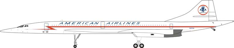 American Airlines Concorde N557AA (1:200) - Preorder item, order now for future delivery