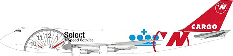 Northwest Airlines Cargo 3-Speed Service B747-200 N644NW (1:200) - Preorder item, order now for future delivery