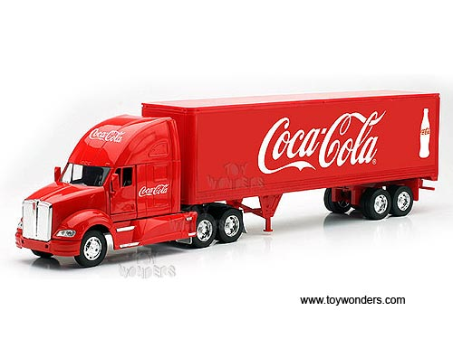 Kenworth T700 Tractor Trailer, Coca-Cola   (1:32, Red)