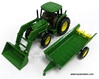 John Deere 6210 Farm Tractor w/ Loader Spreader (1/32 scale diecast model tractor, Green)