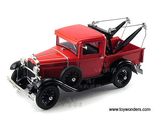 Ford Model A Tow Truck (1931, 1/18 scale diecast model car, Red) 18116