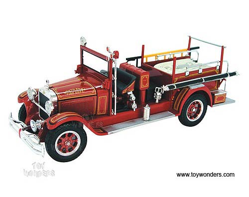 Studebaker Fire Truck FT. Wayne Fire Dept (1928, 1/32 scale diecast model car, Red)