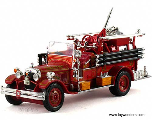Seagrave Fire Truck Sound Beach Volunteer Fire Dept. (1931, 1/32 scale diecast model car, Red)