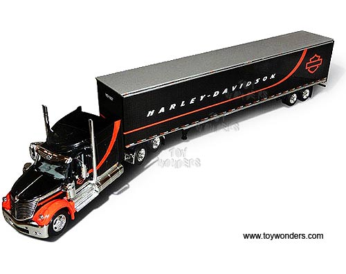 Harley-Davidson - International Lonestar Tractor Trailer (1:64, Black)