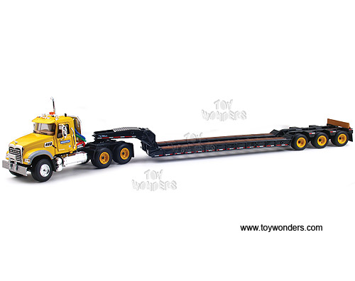 Mack Granite MP w/ Tri-Axle Lowboy Trailer (1:50) (Yellow)