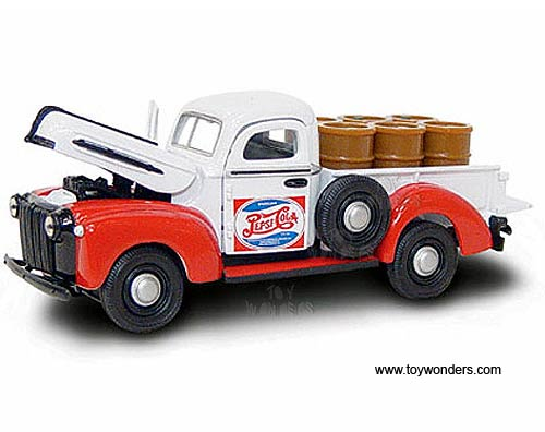Ford Pickup Truck w/ Barrels, Pepsi-Cola (1942, 1:43, White Red)