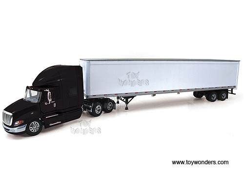 International ProStar w/ 53' Trailer (1:64) (Black)