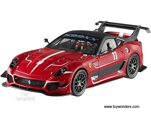Ferrari 599XX EVO #11 Hard Top (1/18 scale diecast model car, Red)