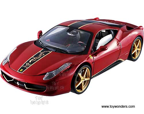 Ferrari 458 Italia Hard Top China Edition (1/18 scale diecast model car, Red)