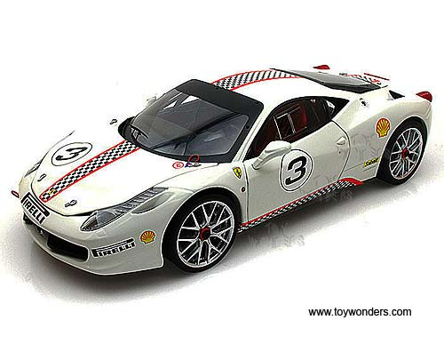 Ferrari Challenge Hard Top #3 (1/18 scale diecast model car, White)
