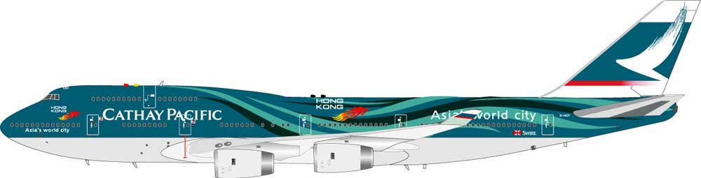 "Cathay Pacific 747-200 B-HOY ""Asia World City"" (1:200)"