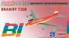 "Braniff International 720 ~ ""Red"" Flying Colors (1:400)"