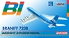 "Braniff International 720 ~ ""Blue"" Flying Colors (1:400)"