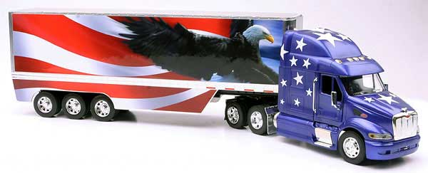 Peterbilt 387 with Patriotic Eagle  (1:32)