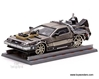 Back To The Future Part III DeLorean w/ Railroad (1:43, Stainless Steel)