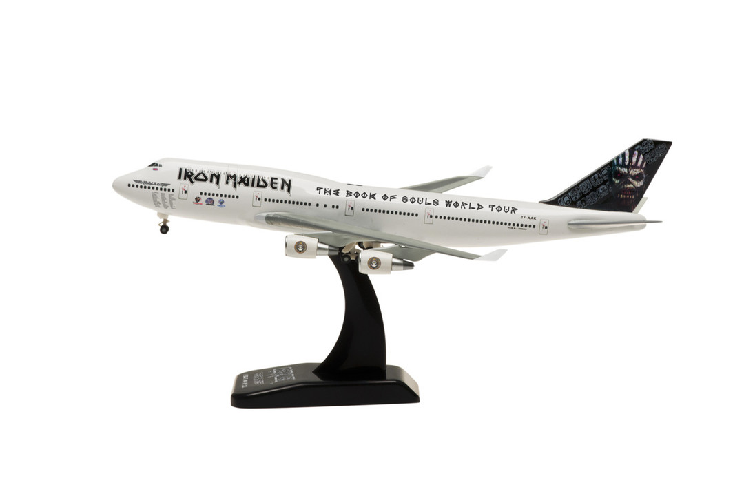 "Iron Maiden 747-400 TF-AAK (1:500) ""The Book of Souls World Tour"" 2016 Tour, Captain Bruce Dickinson - Preorder item, order now for future"