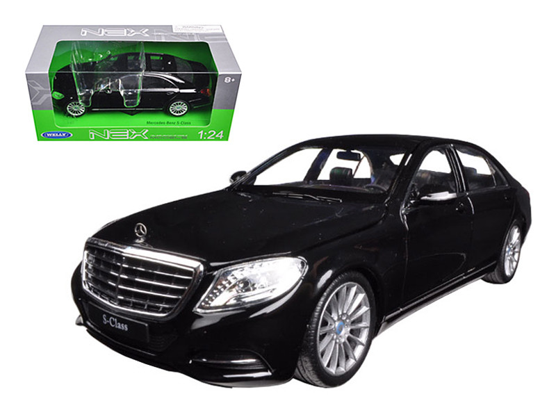 Mercedes S Class Black 1/24 Diecast Model Car by Welly
