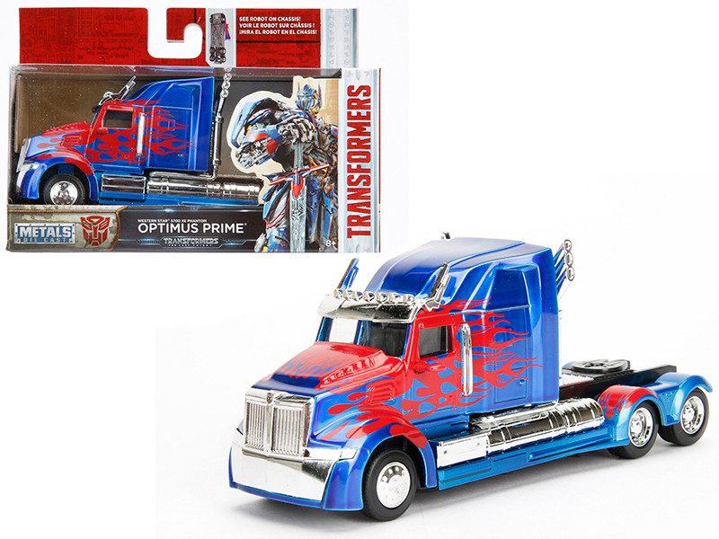 "Western Star 5700 XE Phantom Optimus Prime ""Transformers 5"" Movie 1/32 Diecast Model Car by Jada"