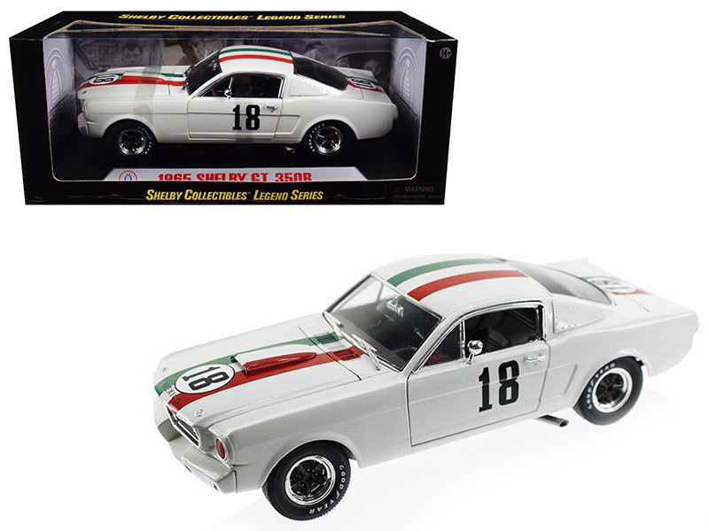 1965 Ford Shelby Mustang GT350R #18 Mexico 1/18 Diecast Car Model by Shelby Collectibles