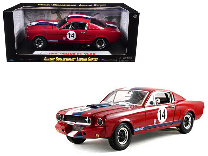 1965 Ford Shelby Mustang GT350R Red #14 1/18 Diecast Car Model by Shelby Collectibles