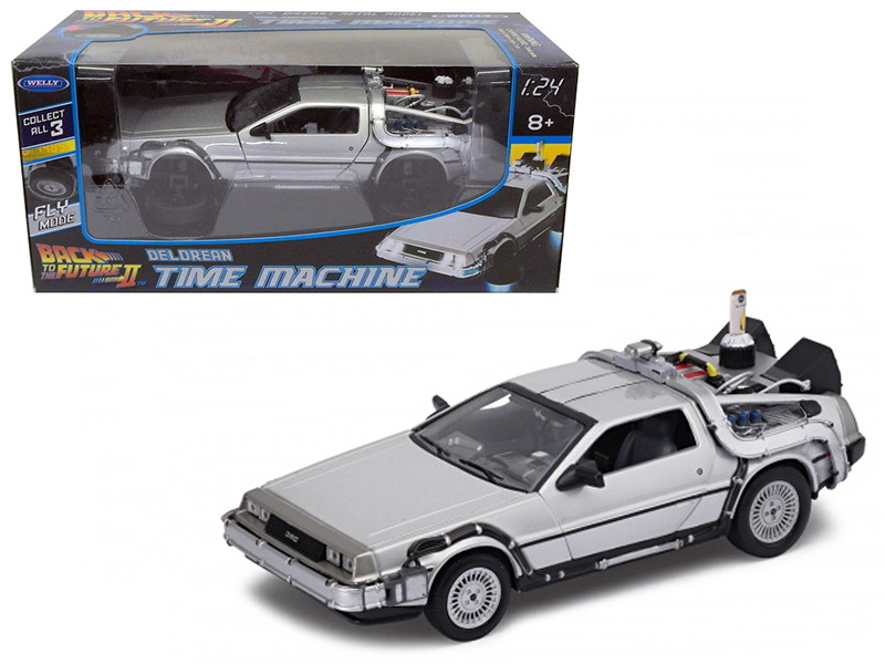 "Delorean from movie ""Back To The Future 2"" Flying Version 1/24 Diecast Car Model by Welly"