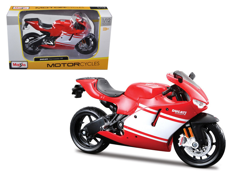 Ducati Desmosedici RR Red Motorcycle Red/White 1/12 Diecast Model by Maisto