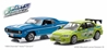 1969 Chevrolet Yenko Camaro and 2002 Mitsubishi Lancer Evolution VII Drag Scene - 2 Fast 2 Furious 2003 - Fast and Furious 2-Pack (1:43)