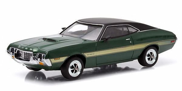 1972 Gran Torino Sport in Green with Yellow Stripes - Updated Tooling (1:43)