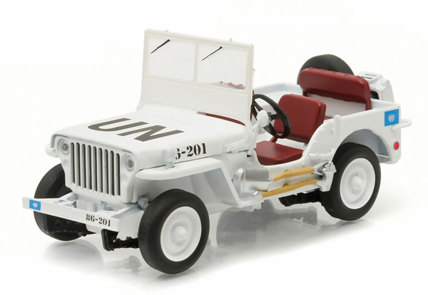 United Nations - Willys Jeep in White with UN Decoration (1:43)