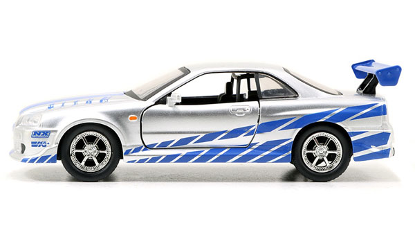 Brian's Nissan Skyline GT-R R34 - 2 Fast 2 Furious 2003 -Scale is approximate (1:32)